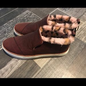 Tom's size 11 Brown Suede Paxton Slip Ons